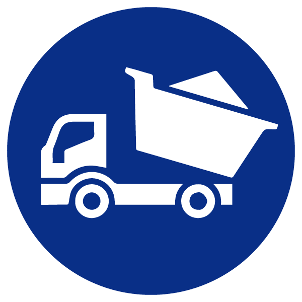Blue Dumptruck Icon