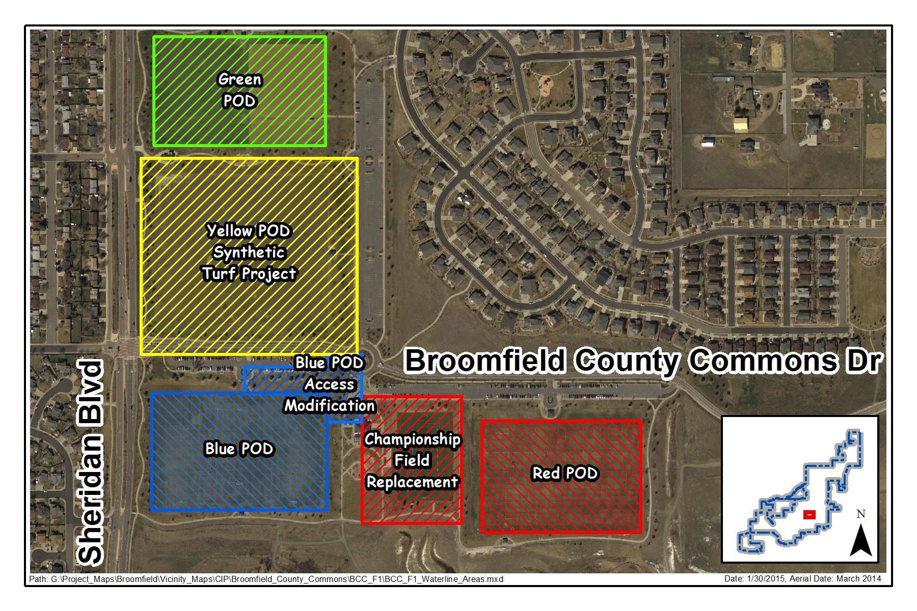 Broomfield County Commons Pod Map
