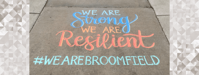 We are Broomfield Chalk drawing
