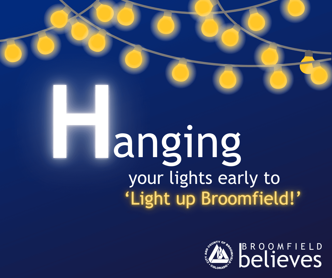 Broomfield Believes_Hanging Up Your Holiday Lights_String of Lights