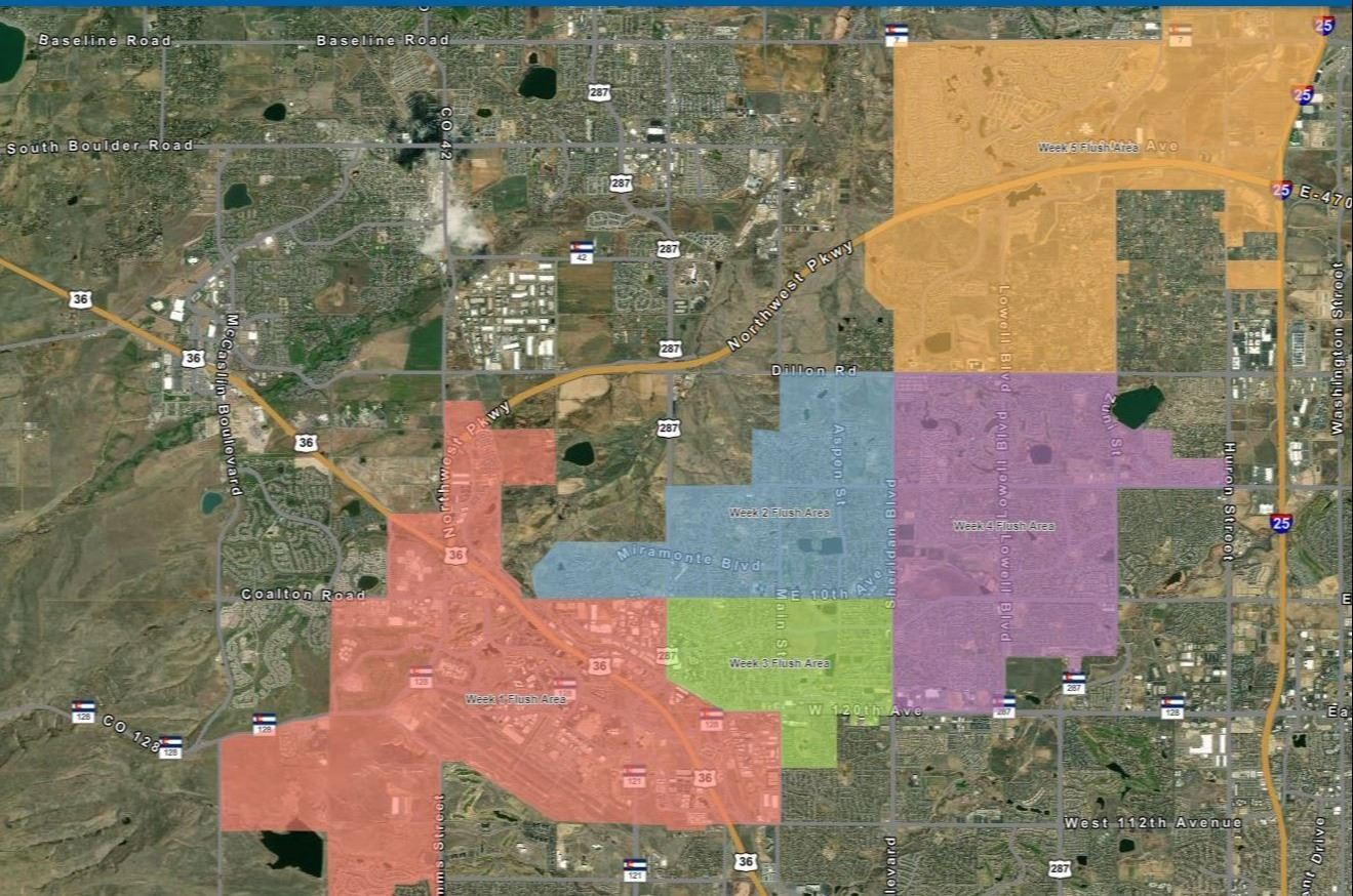 Waterline Flushing Map