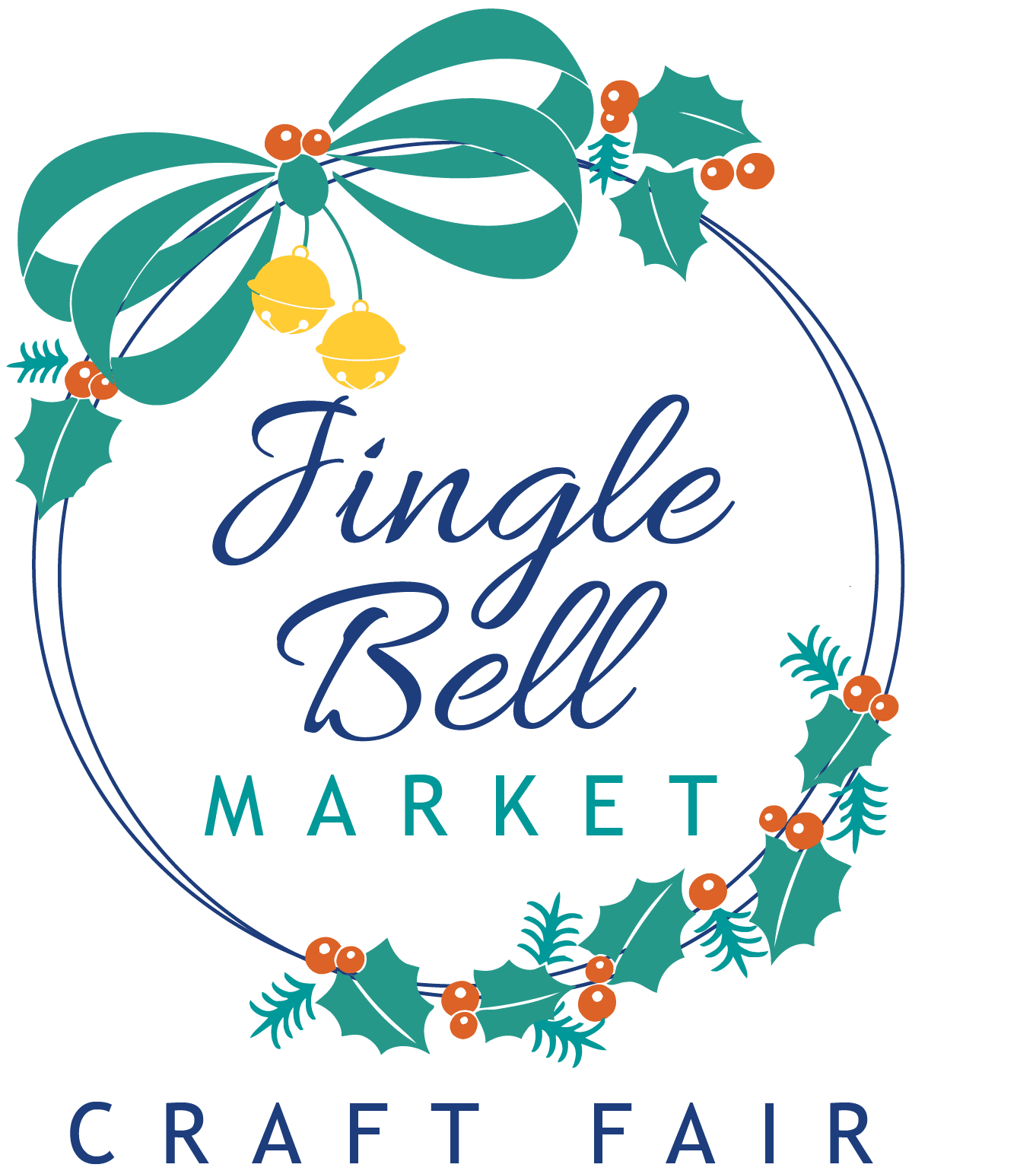 Jingle Bell Market wreath wordmark