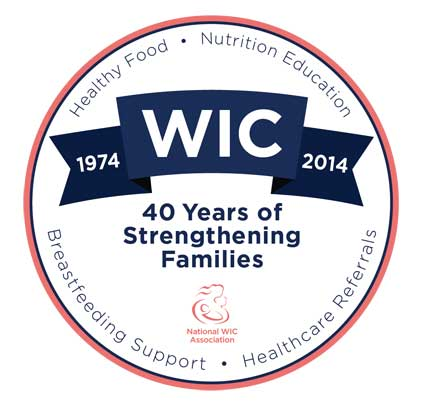 WIC Turns 40 logo