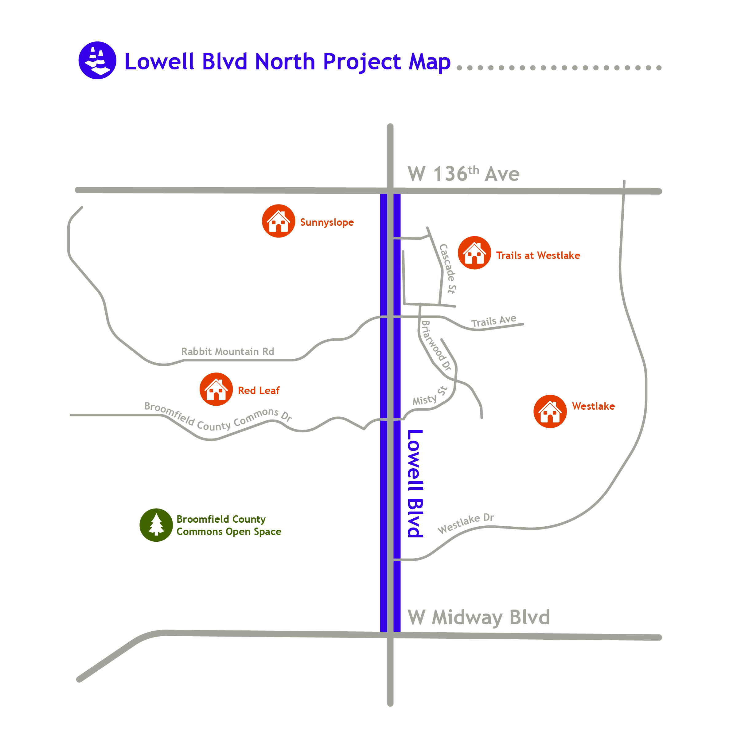 Lowell Blvd. North Project Map