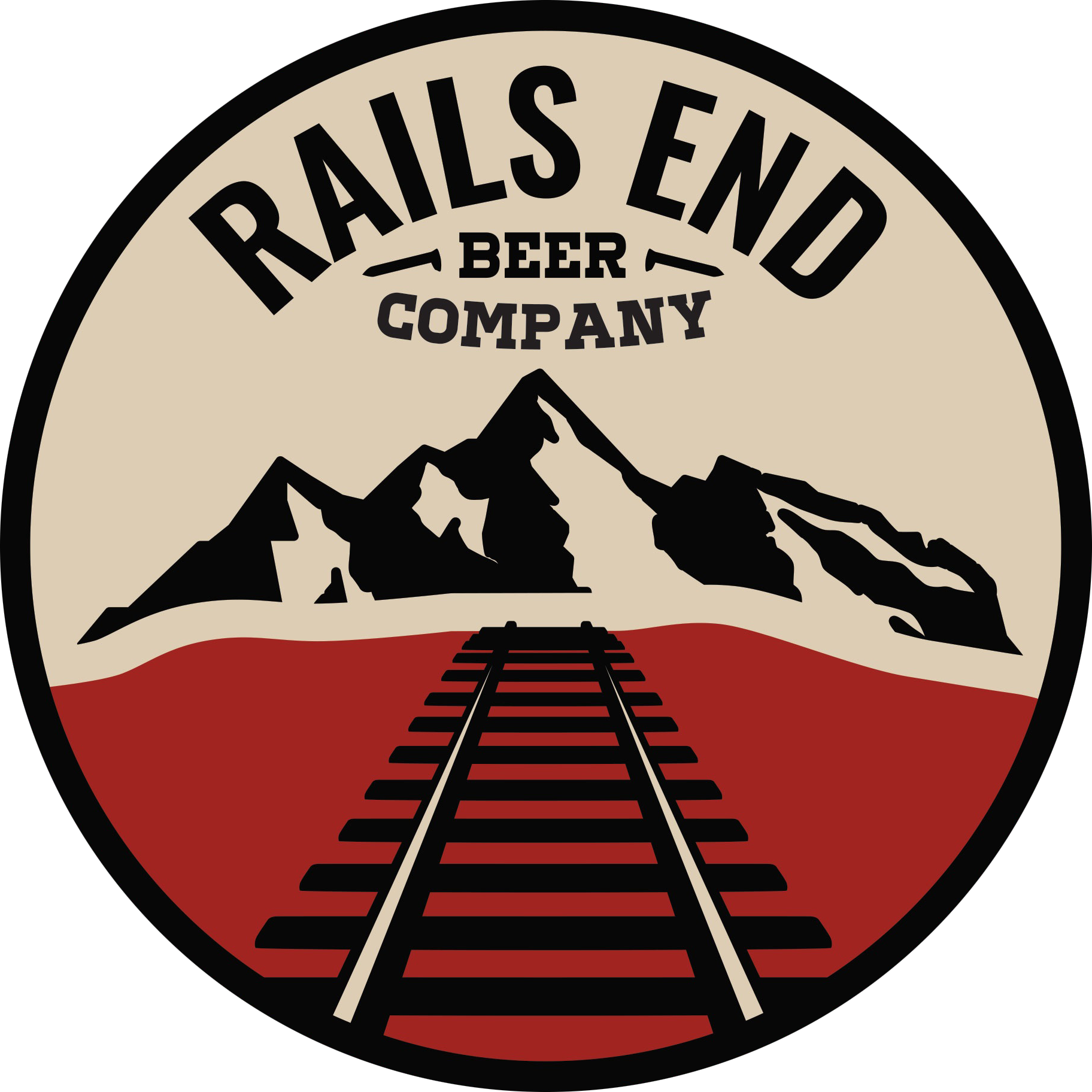 Rails End Beer Company Logo
